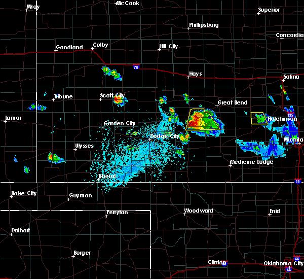 Radar Image for Severe Thunderstorms near Macksville, KS at 6/24/2020 6:44 PM CDT