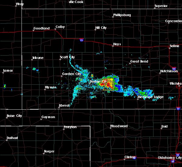 Radar Image for Severe Thunderstorms near Ford, KS at 6/24/2020 8:15 PM CDT