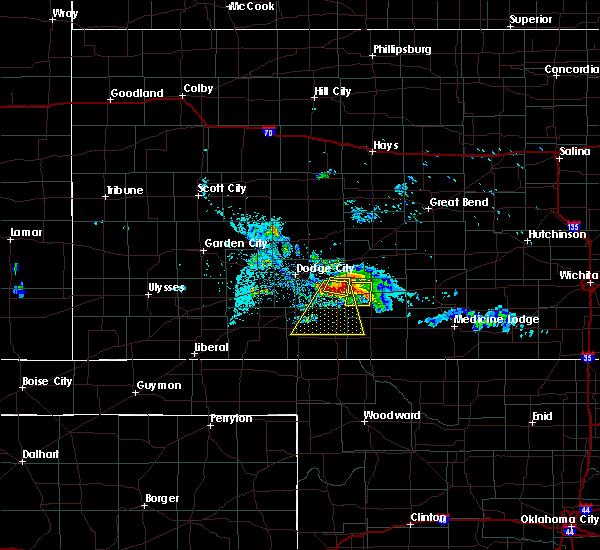 Radar Image for Severe Thunderstorms near Mullinville, KS at 6/24/2020 8:43 PM CDT