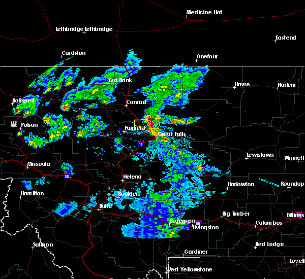 Radar Image for Severe Thunderstorms near Carter, MT at 6/24/2020 7:47 PM MDT