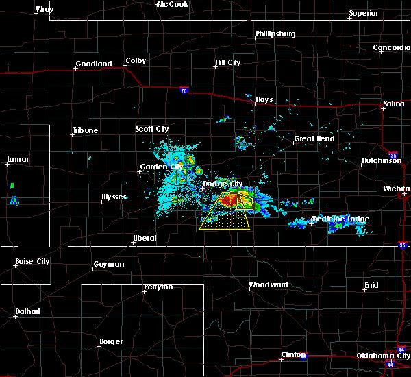 Radar Image for Severe Thunderstorms near Mullinville, KS at 6/24/2020 8:53 PM CDT