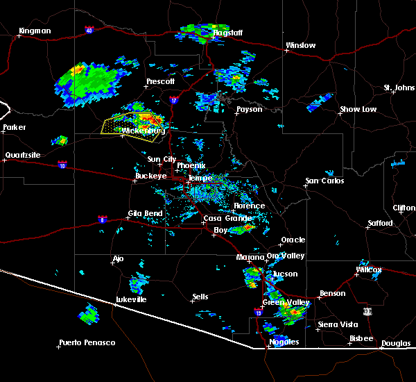 Radar Image for Severe Thunderstorms near Peoria, AZ at 6/29/2015 7:03 PM MST