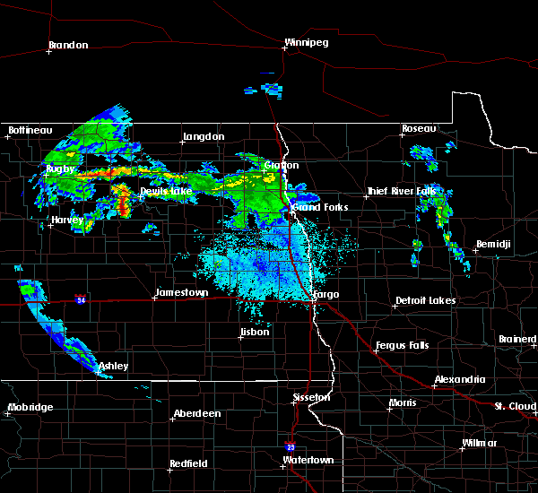 Radar Image for Severe Thunderstorms near Fort Totten, ND at 6/25/2020 12:25 PM CDT