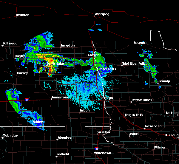 Radar Image for Severe Thunderstorms near McVille, ND at 6/25/2020 1:01 PM CDT
