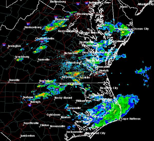 Radar Image for Severe Thunderstorms near Carrsville, VA at 6/25/2020 2:11 PM EDT
