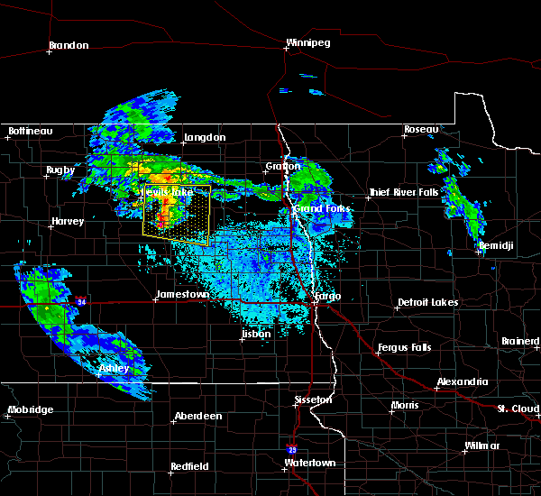 Radar Image for Severe Thunderstorms near McVille, ND at 6/25/2020 1:20 PM CDT