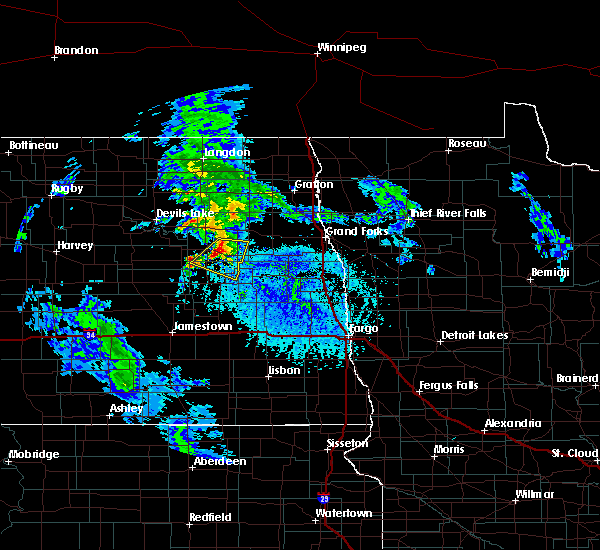 Radar Image for Severe Thunderstorms near McVille, ND at 6/25/2020 2:04 PM CDT
