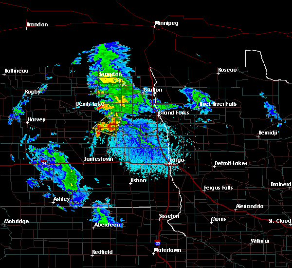 Radar Image for Severe Thunderstorms near McVille, ND at 6/25/2020 2:36 PM CDT