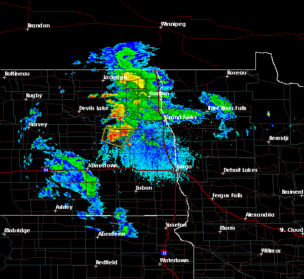 Radar Image for Severe Thunderstorms near Finley, ND at 6/25/2020 2:55 PM CDT