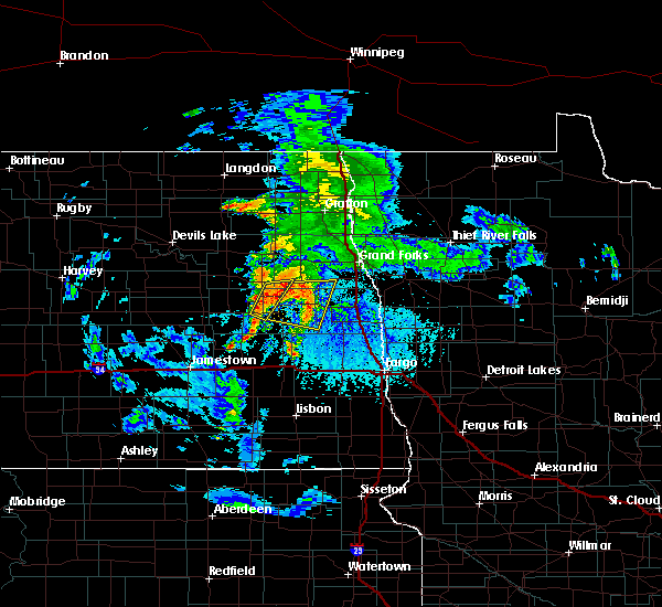 Radar Image for Severe Thunderstorms near Finley, ND at 6/25/2020 3:24 PM CDT