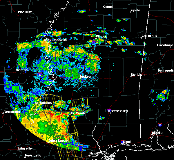 Radar Image for Severe Thunderstorms near New Hebron, MS at 6/25/2020 3:37 PM CDT