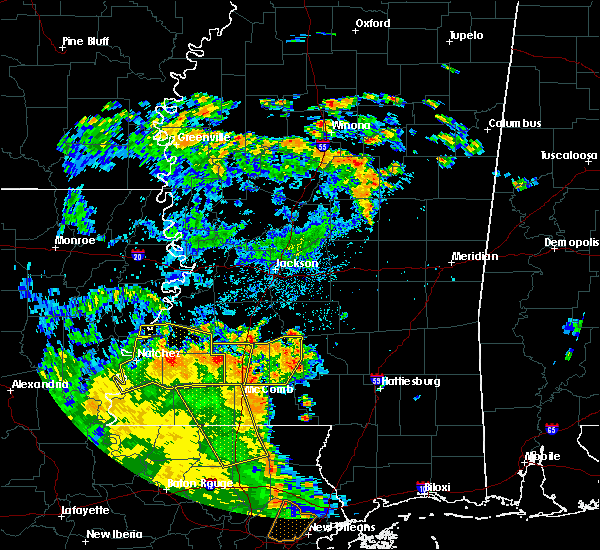 Radar Image for Severe Thunderstorms near New Hebron, MS at 6/25/2020 4:19 PM CDT