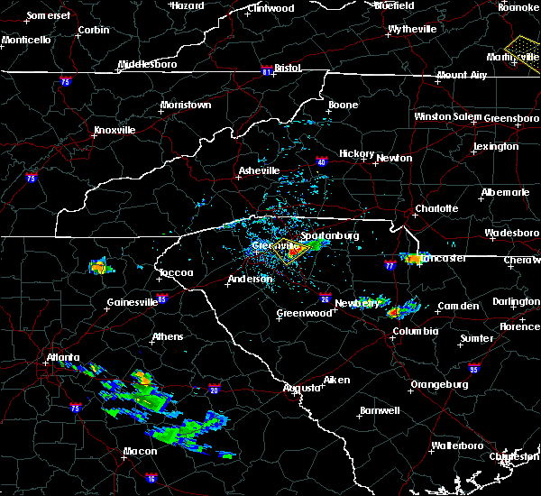 Radar Image for Severe Thunderstorms near Fairforest, SC at 6/25/2020 5:29 PM EDT