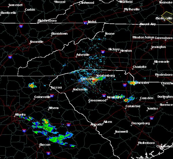 Radar Image for Severe Thunderstorms near Reidville, SC at 6/25/2020 5:29 PM EDT