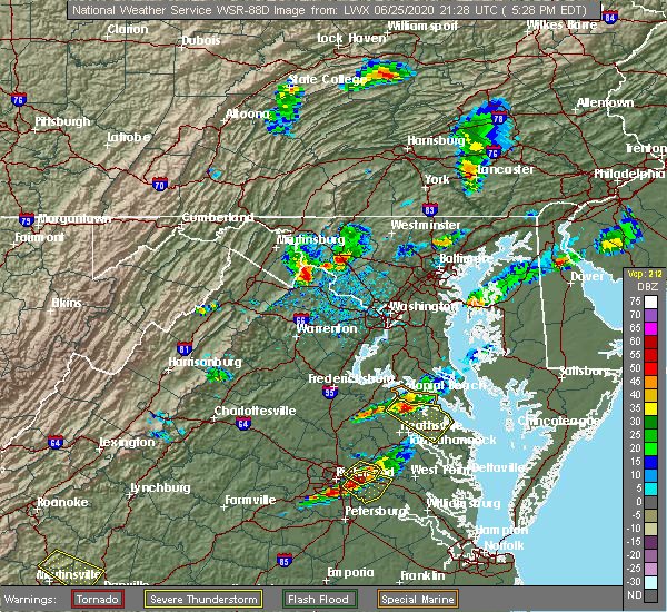 Radar Image for Severe Thunderstorms near Shannondale, WV at 6/25/2020 5:29 PM EDT