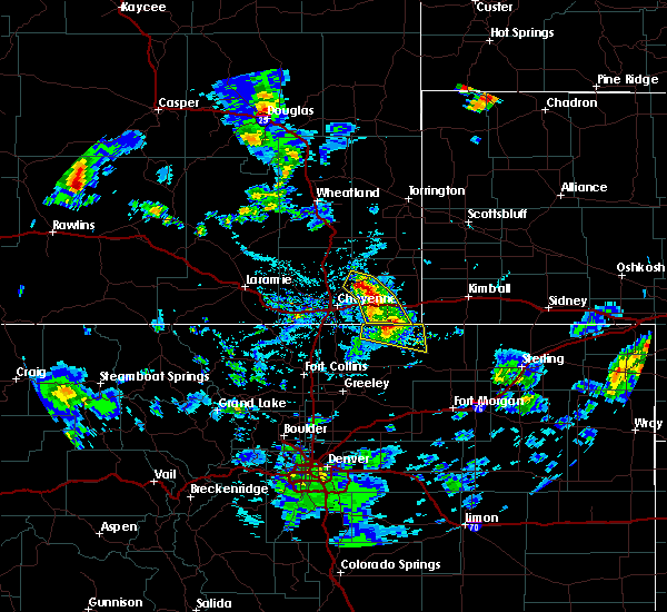 Radar Image for Severe Thunderstorms near Hillsdale, WY at 6/25/2020 3:42 PM MDT