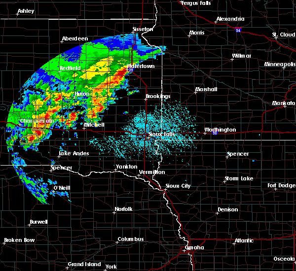 Radar Image for Severe Thunderstorms near Platte, SD at 6/25/2020 4:45 PM CDT