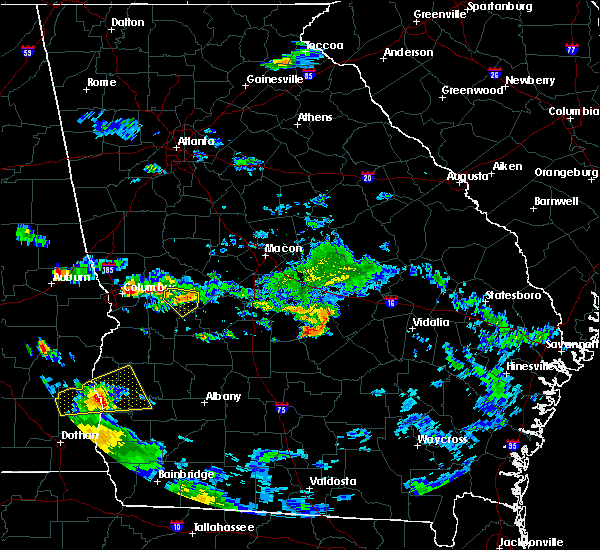 Radar Image for Severe Thunderstorms near Chauncey, GA at 6/25/2020 6:42 PM EDT