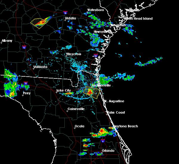Radar Image for Severe Thunderstorms near Jacksonville, FL at 6/25/2020 6:59 PM EDT