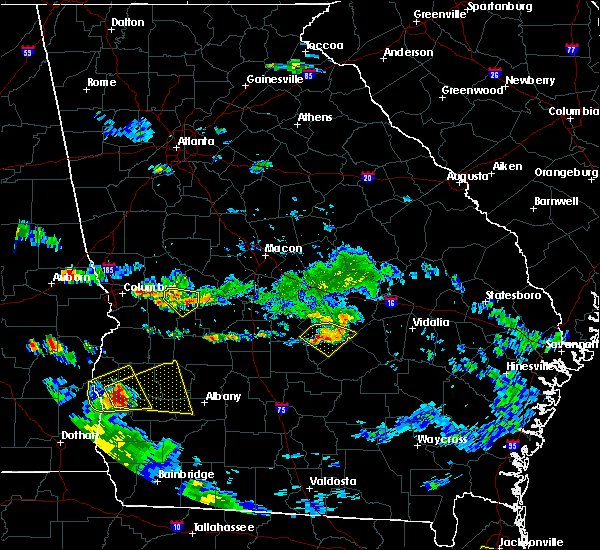 Radar Image for Severe Thunderstorms near Chauncey, GA at 6/25/2020 6:59 PM EDT