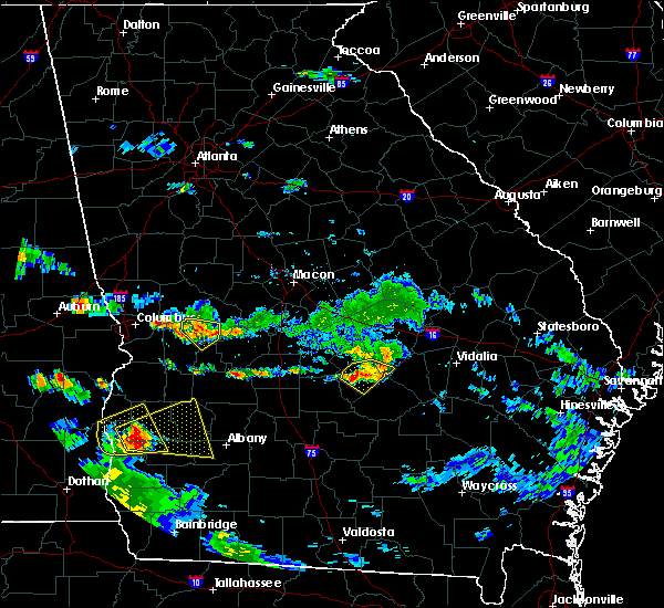 Radar Image for Severe Thunderstorms near Chauncey, GA at 6/25/2020 7:06 PM EDT