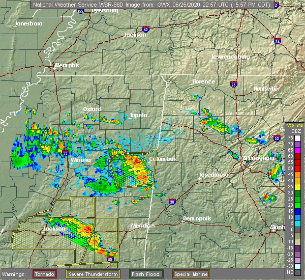 Radar Image for Severe Thunderstorms near Pickensville, AL at 6/25/2020 6:08 PM CDT