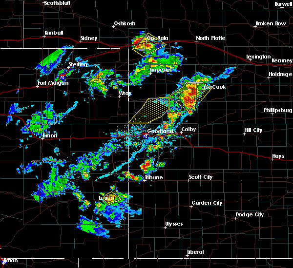 Radar Image for Severe Thunderstorms near Granada, CO at 6/25/2020 5:15 PM MDT