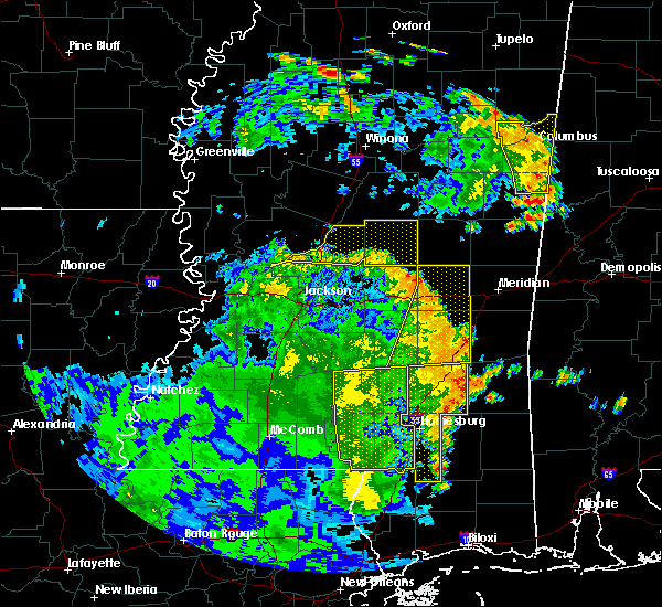 Radar Image for Severe Thunderstorms near Bay Springs, MS at 6/25/2020 6:16 PM CDT