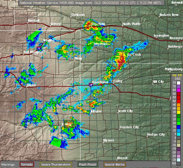Radar Image for Severe Thunderstorms near Danbury, NE at 6/25/2020 6:32 PM CDT