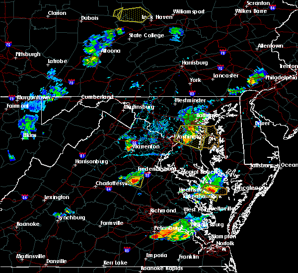 Radar Image for Severe Thunderstorms near Croom, MD at 6/25/2020 7:32 PM EDT