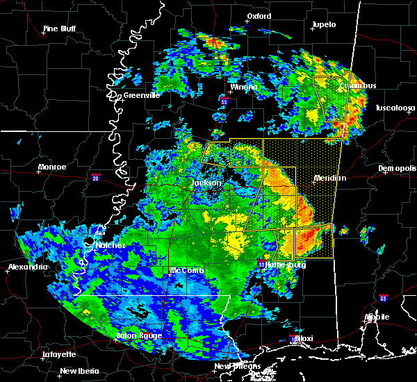 Radar Image for Severe Thunderstorms near Newton, MS at 6/25/2020 6:32 PM CDT
