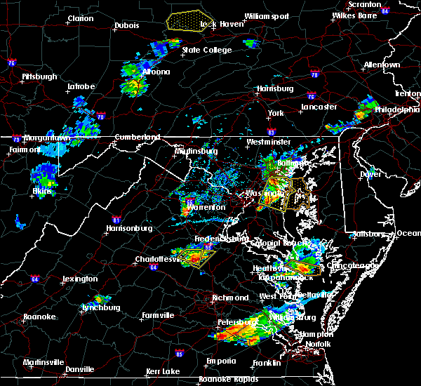 Radar Image for Severe Thunderstorms near Calverton, VA at 6/25/2020 7:40 PM EDT