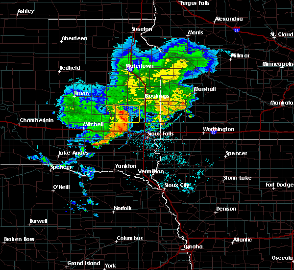 Radar Image for Severe Thunderstorms near Chester, SD at 6/25/2020 6:53 PM CDT