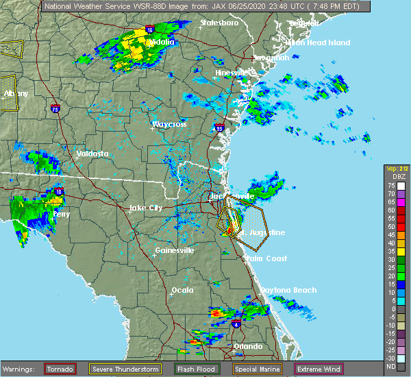 Radar Image for Severe Thunderstorms near World Golf Village, FL at 6/25/2020 7:54 PM EDT
