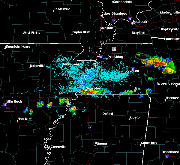 Radar Image for Severe Thunderstorms near West Memphis, AR at 6/29/2015 10:50 PM CDT