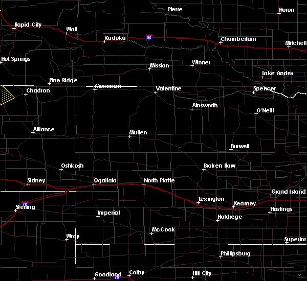 Radar Image for Severe Thunderstorms near Mullen, NE at 6/25/2020 6:59 PM MDT