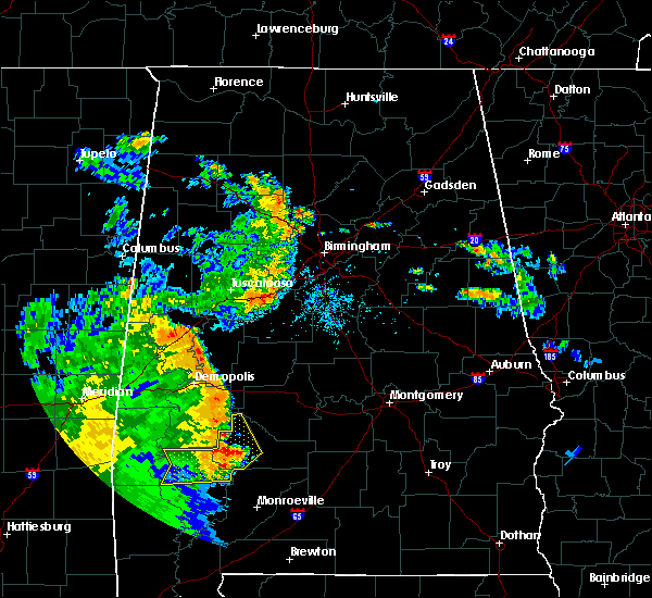 Radar Image for Severe Thunderstorms near Yellow Bluff, AL at 6/25/2020 8:23 PM CDT