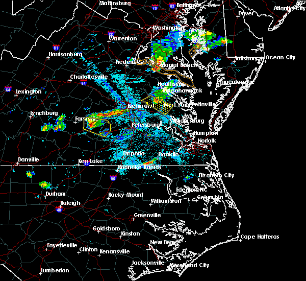 Radar Image for Severe Thunderstorms near West Point, VA at 6/25/2020 9:44 PM EDT