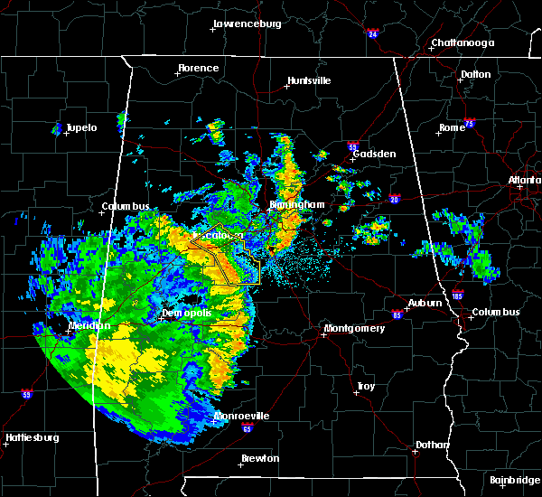Radar Image for Severe Thunderstorms near West Blocton, AL at 6/25/2020 9:11 PM CDT