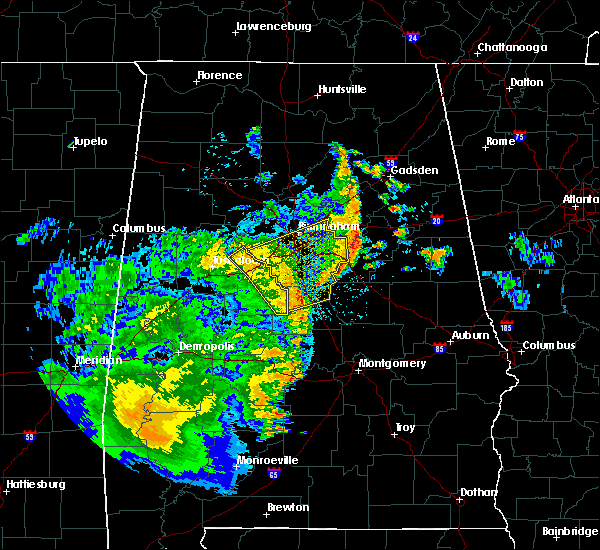 Radar Image for Severe Thunderstorms near West Blocton, AL at 6/25/2020 9:38 PM CDT
