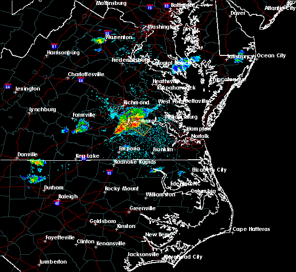 Radar Image for Severe Thunderstorms near Fort Lee, VA at 6/25/2020 11:01 PM EDT