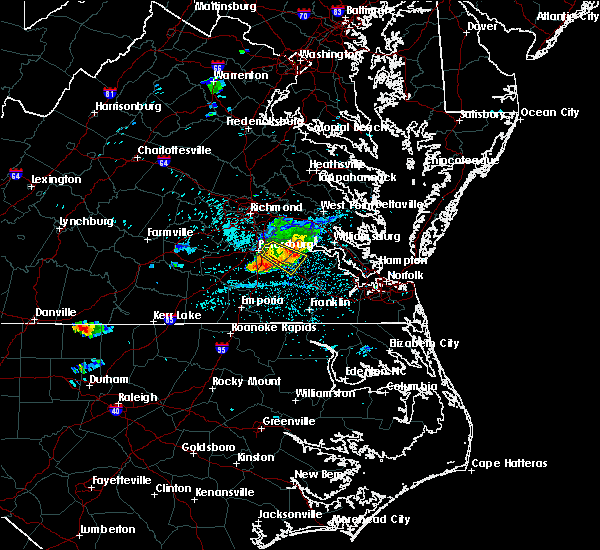 Radar Image for Severe Thunderstorms near Smithfield, VA at 6/25/2020 11:14 PM EDT