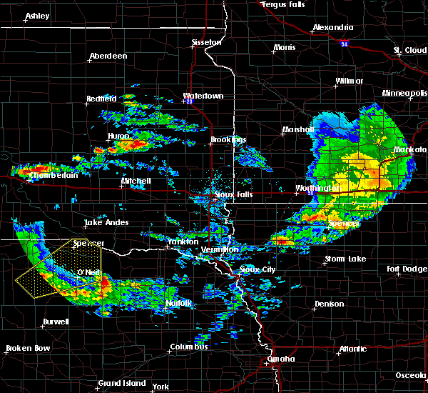 Radar Image for Severe Thunderstorms near Atkinson, NE at 6/25/2020 10:27 PM CDT