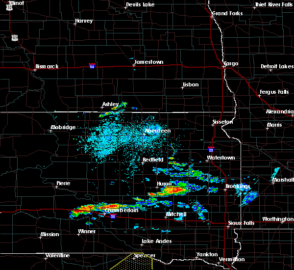 Radar Image for Severe Thunderstorms near Kennebec, SD at 6/25/2020 10:30 PM CDT