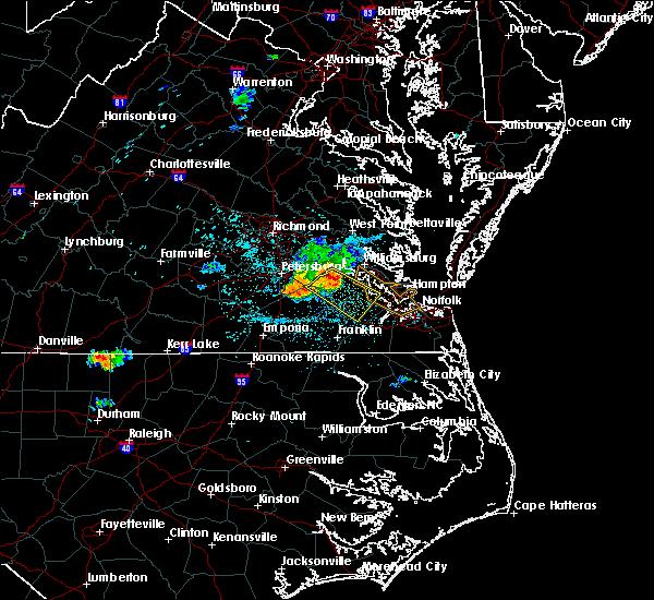Radar Image for Severe Thunderstorms near Wakefield, VA at 6/25/2020 11:31 PM EDT