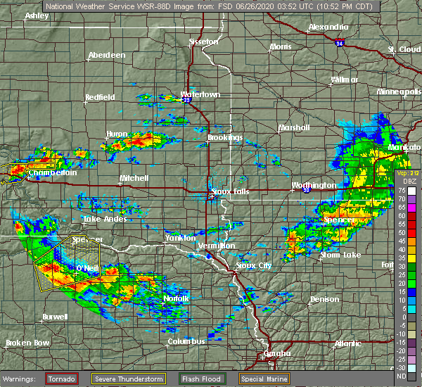 Radar Image for Severe Thunderstorms near Atkinson, NE at 6/25/2020 10:54 PM CDT