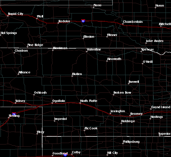 Radar Image for Severe Thunderstorms near Mission, SD at 6/25/2020 11:36 PM CDT