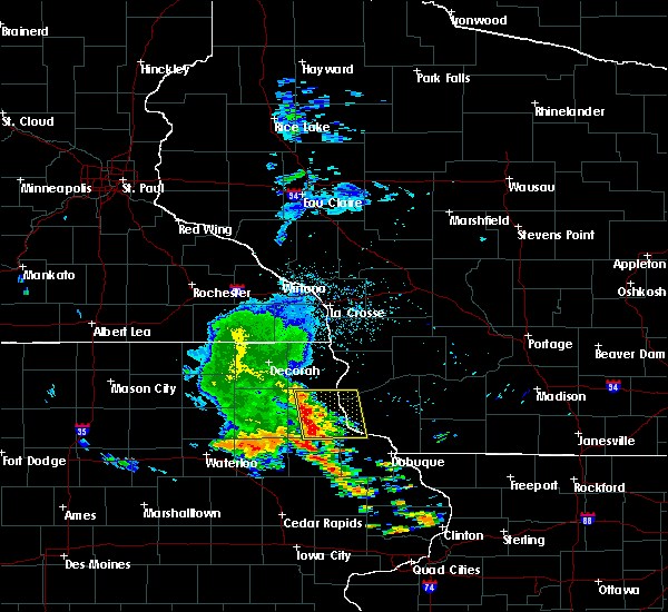 Radar Image for Severe Thunderstorms near Bagley, WI at 6/26/2020 3:37 AM CDT