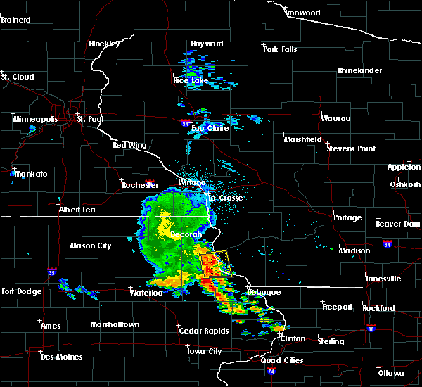 Radar Image for Severe Thunderstorms near Bagley, WI at 6/26/2020 3:51 AM CDT