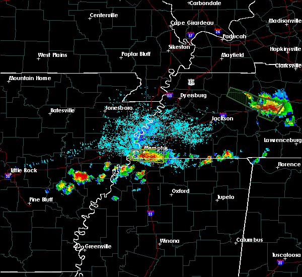Radar Image for Severe Thunderstorms near West Memphis, AR at 6/29/2015 11:27 PM CDT